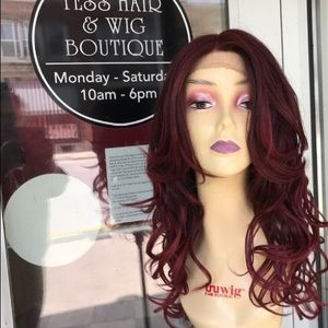 Accessories - Wig burgundy wine Loose Romance Curls ombré wig